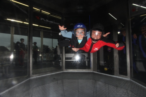 CrossFit Kid - Ashleigh Maple giving Indoor Skydiving a try...and LOVING IT!